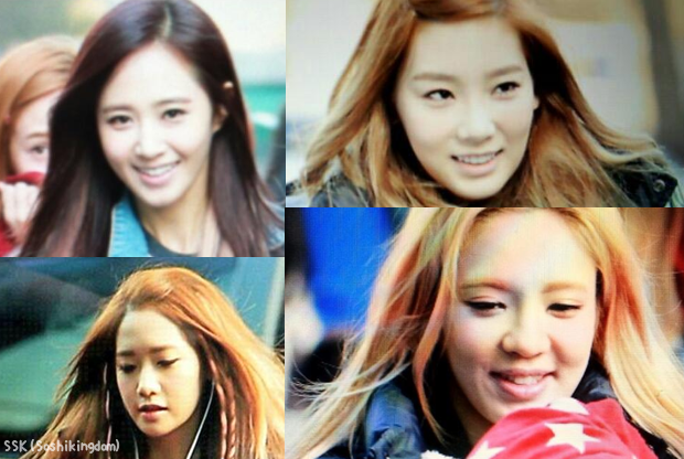 130104 SNSD Outside At Music Bank