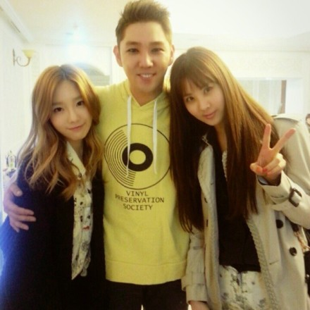 130325 Taeyeon Instagram with Seohyun and Kangin