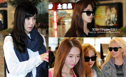 130416 SNSD Gimpo Airport to Japan