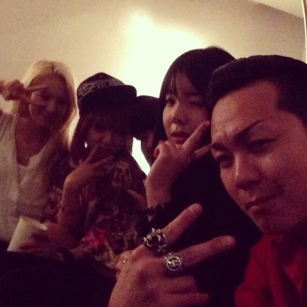 130511 Hyoyeon with Min and friends