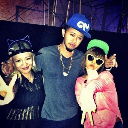 130518 Hyoyeon with Min at World DJ Festival