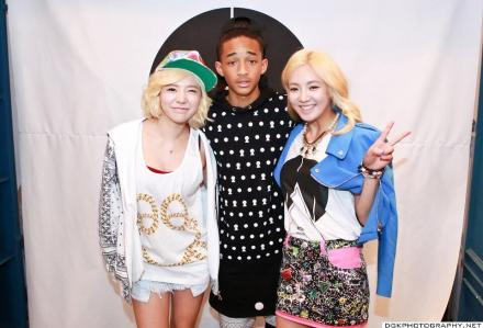 Hyoyeon and Sunny with Jaden Smith